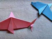 Delfín z papiera - ako poskladať papierového delfína