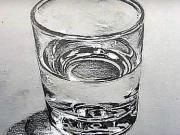 Pohár s vodou - ako nakresliť pohár s vodou