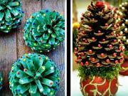 Vánoční ozdoby ze šišek - nápady na ozdoby z borovicových šišek