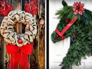 Vianočný veniec - 75 nápadov na vianočné vence