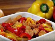 Vegánske lečo - recept na vegánske lečo so sójovými párkami