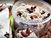 Ryžová kaša - recept na ryžovú kašu s mandľami a hrozienkami