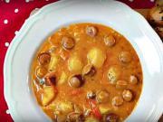 Bramborový guláš s pikantními papričkami - recept