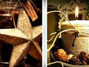 Dekorácie zo starých knih - 50 nápadov na recykláciu knihy