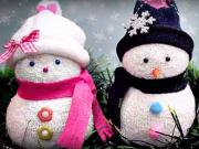 Sněhulák z ponožky - jak vyrobit sněhuláka z ponožky