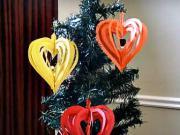 Srdce z papíru - jak si vyrobit vánoční ozdobu