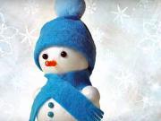 Sněhulák z ponožky - ponožkový sněhulák