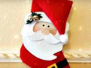 Vianočný ponožkový Santa - vianočné ozdoby