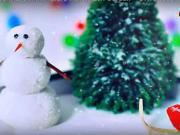 Zimná krajina v obývačke - Mini zimná záhrada