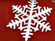 Jednoduchá sněhová vločka z papíru - papírová sněhová vločka