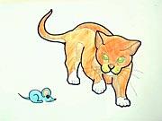 Mačka - ako sa kreslí mačka - ako nakresliť mačku, mačičku