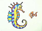 Morský koník - ako sa kreslí morský koník