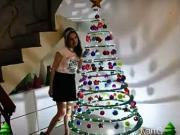 Vánoční stromek z kartonu - jak si vyrobit vánoční stromek z kartonu