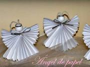 Anjel z papiera - ako vyrobiť papierových anjelov