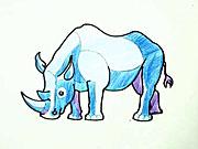 Nosorožec - jak nakreslit nosorožce