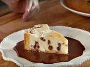 Tvarohový dort - recept na tvarohový dort s čokoládovým přelivem
