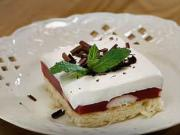 Malinovo - piškotové řezy - recept