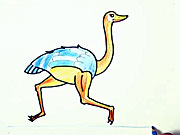 Pštros - jak se kreslí pštros
