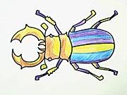 Roháč - ako sa kreslí chrobák