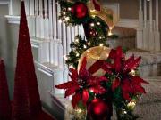 Vánoční výzdoba schodů - inspirace na výzdobu schodů - Vánoční výzdoba 41