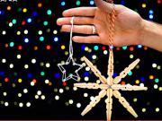 Vianočná hviezda zo štipcov - Vianočné ozdoby zo štipcov na prádlo