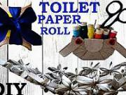 Dekorácie z toaletnej rolky