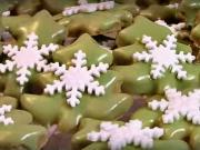 Pistáciové vianočné stromčeky - recept