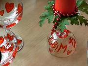 Valentínske poháre a svietnik
