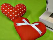 Povlak ve tvaru srdce - Jak ušít povlak na polštář ve tvaru srdce - kurzy šití