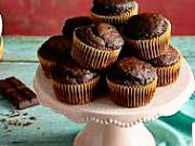 Čokoládové muffiny - recept na čokoládovo - banánové muffiny