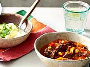 Mexický guláš s kukuřicí a paprikami - recept