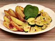 Cuketová omáčka s pečenými bramborami - recept na pórkovo-cuketovou omáčku