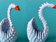Labuť z papiera - ako si vyrobiť papierovú labuť