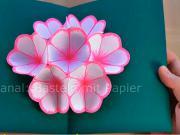Pozdrav s 3D kvetom