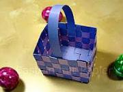 Velikonoční košík z papíru - košík na velikonoční vajíčka