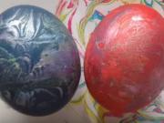 Malování vajíček pomocí pěny na holení