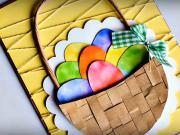 Velkonočný pozdrav - košík s vajíčkami