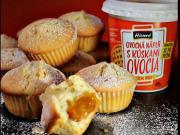 Jogurtové muffiny plnené ovocnou náplňou - recept