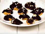 Čokoládové pusinky s arašídovým maslom - recept