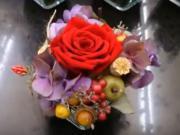Ako na to - aranžmán z preparovanej ruže
