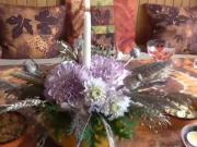 Jesenná váza z tekvice