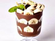 Kakaový dezert s banánom - recept