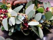 Veniec z eucalypthusu a hortenzie