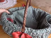 Košík na huby - obliečka