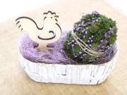Návod na veľkonočné vajíčko z prírodného machu - tutorial DIY