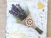 Voňavý obrázok s levanduľou - tutorial DIY