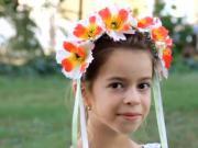 Návod na kvetinovú čelenku