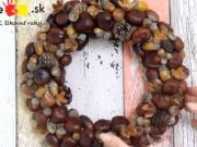 Návod na jesenný veniec z gaštanov / DIY fall wreath