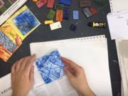 Enkaustika - záložka do knihy maľovaná horúcim voskom