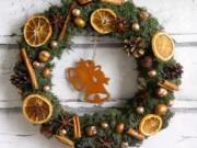 Návod na vianočný veniec na dvere